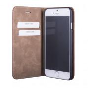JT Berlin LeatherBook Magic Case - хоризонтален кожен (естествена кожа) калъф тип портфейл за iPhone 8, iPhone 7 (кафяв) 4