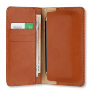 4smarts Newtown Wallet Universal Case for smartphones up to 5.2 in. (brown) 1