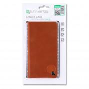 4smarts Newtown Wallet Universal Case - универсален кожен калъф с тип портфейл за смартфони до 5.2 инча (кафяв) 2