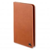 4smarts Newtown Wallet Universal Case - универсален кожен калъф с тип портфейл за смартфони до 5.2 инча (кафяв)