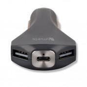 4smarts Ultimate In-Car Quick Charge 3.0 Car Charger 6A - зарядно за кола с технология за бързо зареждане (6 Ампера) с 2 USB изхода и USB-C изход (черен) 2