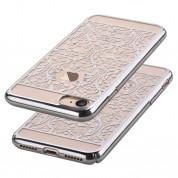 Devia Crystal Baroque Case - поликрабонатов кейс за iPhone 8, iPhone 7 (с кристали Сваровски) (сребрист) 1