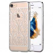 Devia Crystal Baroque Case - поликрабонатов кейс за iPhone 8, iPhone 7 (с кристали Сваровски) (сребрист)