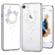 Devia Crystal Garland Case - поликрабонатов кейс за iPhone SE (2020), iPhone 8, iPhone 7 (с кристали Сваровски) (сребрист) 1