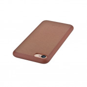 Devia Jelly Slim Leather Case - кожен кейс за iPhone 8, iPhone 7 (кафяв) 2
