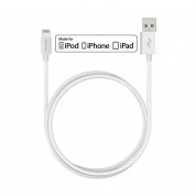 TeckNet P201 Apple MFi Certified Lightning to USB Cable 2m. - изключително здрав и качествен Lightning кабел за iPhone, iPad, iPod с Lightning (2 метра) (бял)