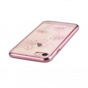 Comma Crystal Flora 360 Case - поликарбонатов кейс за iPhone 8, iPhone 7 (с кристали Сваровски) (розово злато) 3