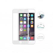 Comma Barde Full Screen Tempered Glass (0.26 mm) - обхващащо и ръбовете стъклено защитно покритие за дисплея и покритие за задната част за iPhone 8 Plus, iPhone 7 Plus (бял)