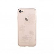 Comma Crystal Flora 360 Case - поликарбонатов кейс за iPhone 8 Plus, iPhone 7 Plus (с кристали Сваровски) (златист) 1