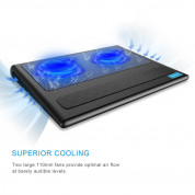 TeckNet N5 Laptop Cooling Pad with 2x11cm Silent Fans