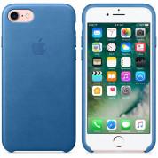 Apple iPhone Leather Case - оригинален кожен кейс (естествена кожа) за iPhone 8, iPhone 7 (морско синьо) 4