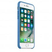 Apple iPhone Leather Case - оригинален кожен кейс (естествена кожа) за iPhone 8, iPhone 7 (морско синьо) 6