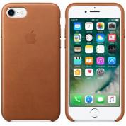 Apple iPhone Leather Case - оригинален кожен кейс (естествена кожа) за iPhone 8, iPhone 7 (кафяв) 6