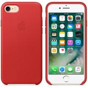 Apple iPhone Leather Case - оригинален кожен кейс (естествена кожа) за iPhone 8, iPhone 7 (червен) 3