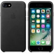 Apple iPhone Leather Case - оригинален кожен кейс (естествена кожа) за iPhone 8, iPhone 7 (черен) 4