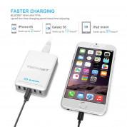 TeckNet U502 DuoPower 5 Port USB 12A Wall Charger - захранване за ел. мрежа 12A с 5xUSB изхода (бял) 4