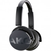 AKG Y50 On-Ear Headphones with in-line one-button universal remote / mic (black)