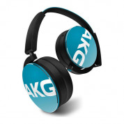 AKG Y50 On-Ear Headphones with in-line one-button universal remote / mic (teal) 3