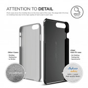 Elago S7 Slim Fit 2 Case + HD Clear Film - поликарбонатов кейс и HD покритие за iPhone 8 Plus, iPhone 7 Plus (черен-лъскав) 1