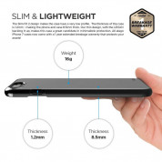 Elago S7 Slim Fit 2 Case + HD Clear Film - поликарбонатов кейс и HD покритие за iPhone 8 Plus, iPhone 7 Plus (черен-лъскав) 4