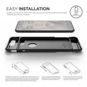 Elago S7 Glide Case + HD Clear Film - поликарбонатов кейс и HD покритие за iPhone 8 Plus, iPhone 7 Plus (черен-лъскав) 7