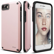Elago Armor Case + HD Professional Screen Film for iPhone SE (2020), iPhone 8, iPhone 7 (lovely pink)