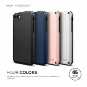 Elago Armor Case + HD Professional Screen Film for iPhone SE (2020), iPhone 8, iPhone 7 (lovely pink) 8