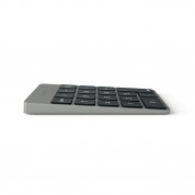 Satechi Slim Aluminum Wireless Keypad - безжична Bluetooth клавиатура с 18 бутона за MacBook (тъмносива) 2