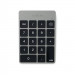 Satechi Slim Aluminum Wireless Keypad - безжична Bluetooth клавиатура с 18 бутона за MacBook (тъмносива) 1