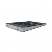 Satechi Slim Aluminum Wireless Keypad - безжична Bluetooth клавиатура с 18 бутона за MacBook (тъмносива) 3