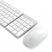 Satechi Slim Aluminum Wireless Keypad - безжична Bluetooth клавиатура с 18 бутона за MacBook (сребриста) 4