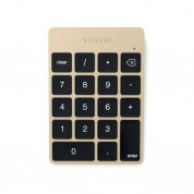 Satechi Slim Aluminum Wireless Keypad - безжична Bluetooth клавиатура с 18 бутона за MacBook (златиста)