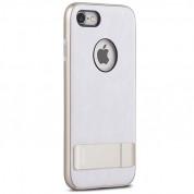 Moshi Kameleon Case - удароустойчив кожен кейс за iPhone 8, iPhone 7 (бял) 2