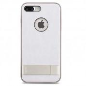 Moshi Kameleon Case - удароустойчив кожен кейс за iPhone 8 Plus, iPhone 7 Plus (бял)