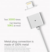 WSKEN Magnetic X-cable Cable for Apple Lightning devices (silver) 5