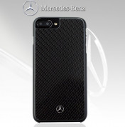 Mercedes-Benz Carbon Fiber Hard Case - дизайнерски карбонов кейс за iPhone 8 Plus, iPhone 7 Plus