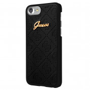 Guess Scarlett Hard Case - дизайнерски хибриден кейс за iPhone 8, iPhone 7 (черен)