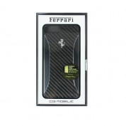 Ferrari Carbon Fiber Hard Case - дизайнерски карбонов кейс за iPhone 8 Plus, iPhone 7 Plus (черен) 1