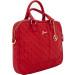 Guess Scarlett Bag - луксозна дизайнерска чанта с дръжки и презрамка за преносими компютри до 13.3 инча (червена) 1