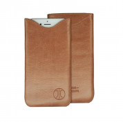 JT Berlin SlimCase Leather 2ML - кожен калъф (естествена кожа) за iPhone 6, iPhone 8, iPhone 7, Galaxy Alpha, Galaxy S5 mini, HTC One Mini 2 (кафяв)