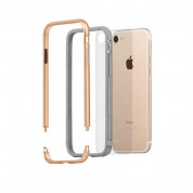 Moshi Luxe Bumper Case - метален бъмпер и покритие за задната част за iPhone 8, iPhone 7 (златист) 1