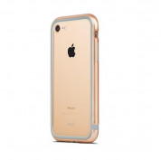 Moshi Luxe Bumper Case - метален бъмпер и покритие за задната част за iPhone 8, iPhone 7 (златист)