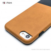 iPaint Brown Leather Case - кожен кейс за iPhone 8, iPhone 7 (кафяв) 1