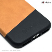 iPaint Brown Leather Case - кожен кейс за iPhone 8, iPhone 7 (кафяв) 2