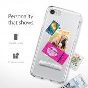 Spigen Ultra Hybrid Case S - хибриден кейс с висока степен на защита и поставка за iPhone 8, iPhone 7 (прозрачен) 5