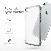 Spigen Crystal Shell Case - хибриден кейс с висока степен на защита за iPhone 8, iPhone 7 (прозрачен-сив) 3