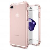 Spigen Crystal Shell Case - хибриден кейс с висока степен на защита за iPhone 8, iPhone 7 (прозрачен-розово злато)