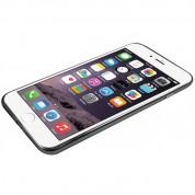 Macally Luxr Soft Case - силиконов (TPU) калъф за iPhone 8 Plus, iPhone 7 Plus (прозрачен-черен) 5
