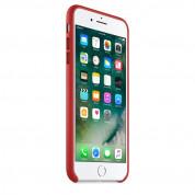 Apple iPhone Leather Case - оригинален кожен кейс (естествена кожа) за iPhone 8 Plus, iPhone 7 Plus (червен) 6