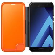Samsung Neon Flip Cover EF-FA320PBEGWW - оригинален кожен кейс със светещи ръбове за Samsung Galaxy A3 (2017) (черен) 3